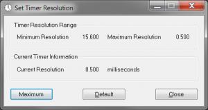برنامج timer resolution ويندوز