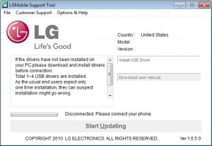 lg mobile support tool windows